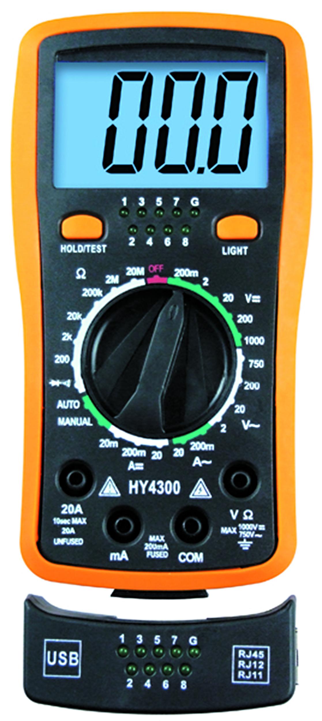 Digital Volt Ohmmeter : Digital volt ohm meter cable tester dlcparts dlc