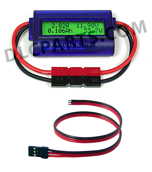 Watt Meter Inline: WATT'S UP INLINE DC METER WITH AUXILIARY CABLE